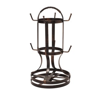 Gourmet Basics Antique Black-finish Forged Rotating Mug Tree