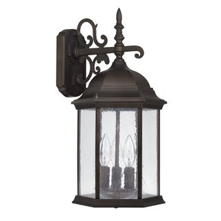 Capital Lighting Main Street Collection 3-light Old Bronze Outdoor Wall Lantern