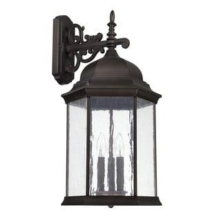 Capital Lighting Main Street Collection 3-light Old Bronze Outdoor Wall Lantern