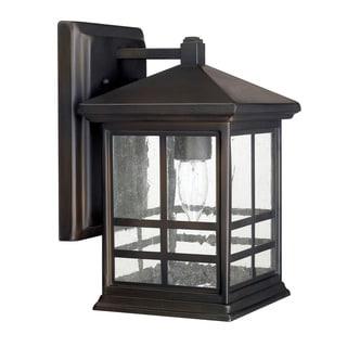 Preston 1-light Old Bronze Outdoor Wall Lantern