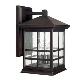 Capital Lighting Preston Collection 3-light Old Bronze Outdoor Wall Lantern