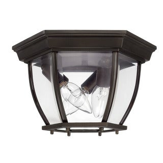 Capital Lighting Traditional 3-light Old Bronze Outdoor Flush Mount