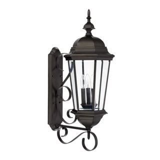 Capital Lighting Carriage House Collection 3-light Old Bronze Outdoor Wall Lantern