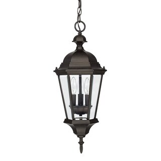 Capital Lighting Carriage House Collection 3-light Old Bronze Outdoor Hanging Lantern