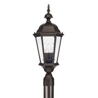 Capital Lighting Carriage House Collection 3-light Old Bronze Outdoor Post Lantern