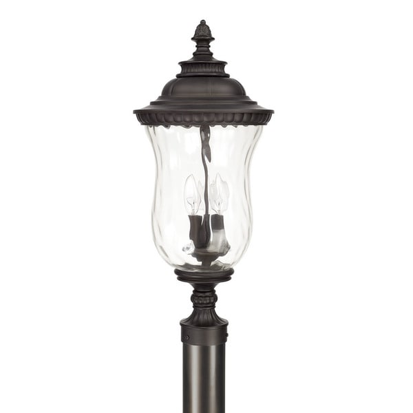 Capital Lighting Ashford Collection 3 Light Old Bronze Outdoor Post Lantern On Free Shipping Today 11746069