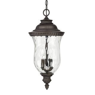 Capital Lighting Ashford Collection 3-light Old Bronze Outdoor Hanging Lantern