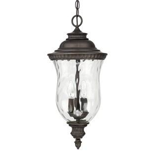 Capital Lighting Ashford Collection 3-light Old Bronze Outdoor Hanging Lantern