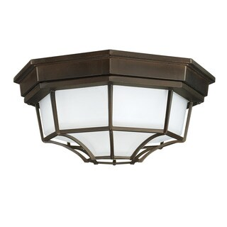 Capital Lighting Traditional 2-light Old Bronze Outdoor Flush Mount