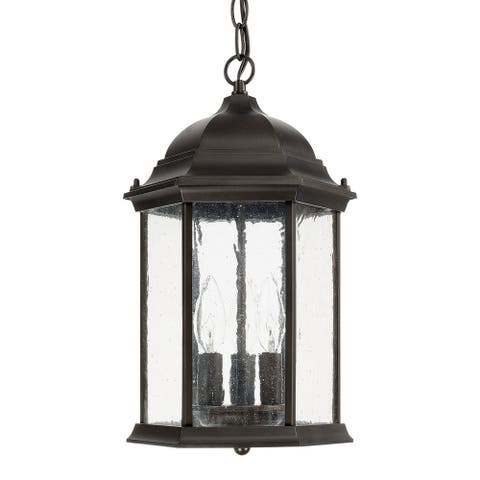 Main Street 3-light Old Bronze Outdoor Hanging Lantern