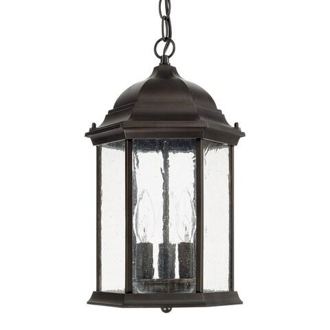 Capital Lighting Main Street Collection 3-light Old Bronze Outdoor Hanging Lantern