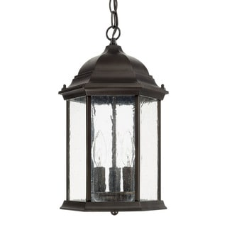 Capital Lighting Main Street Collection 3-light Old Bronze Outdoor Hanging Lantern