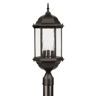 Capital Lighting Main Street Collection 3-light Old Bronze Outdoor Post Lantern