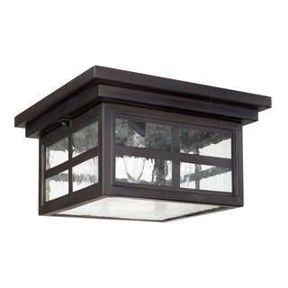 Capital Lighting Preston Collection 3-light Old Bronze Outdoor Flush Mount