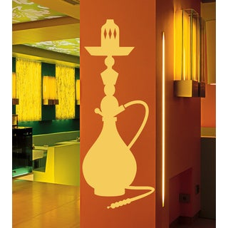 Hookah Cafe Wall Art Sticker Decal Orange