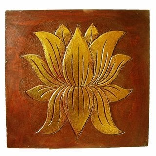 Hand-carved Tulip Flower Wall Panel