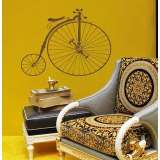 Vintage bike Wall Art Sticker Decal Brown
