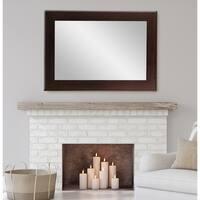 BrandtWorks Multi Size Brown Walnut Vanity Mirror