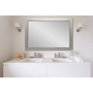 Multi Size BrandtWorks Aged Silver Vanity Mirror - Nickel