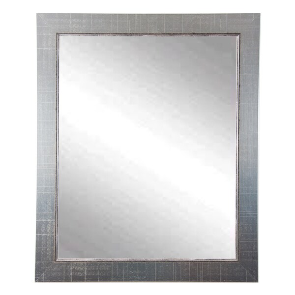 Multi Size BrandtWorks Aged Silver Vanity Mirror - Nickel