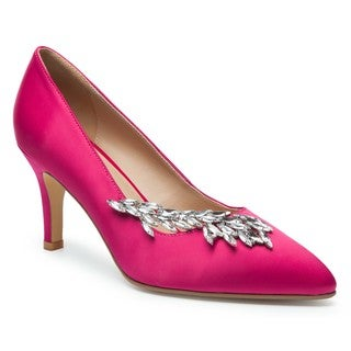 Ann Creek Women's Caney Fuschia Rhinestone Pump Heels