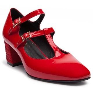 Ann Creek Women's'Luella' T-strap Rhinestone Heels