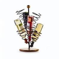 Gourmet Basics Spiral 6 Bottle Wine Rack With Antique Black Finish