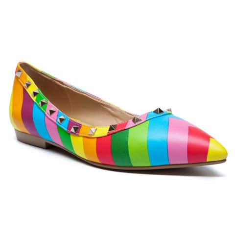 Ann Creek Women's 'Fresno' Rainbow Studs Loafers