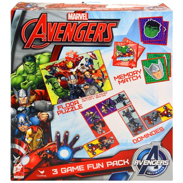Avengers 3in1 Puzzle Floor Dominoes Memory Match Game