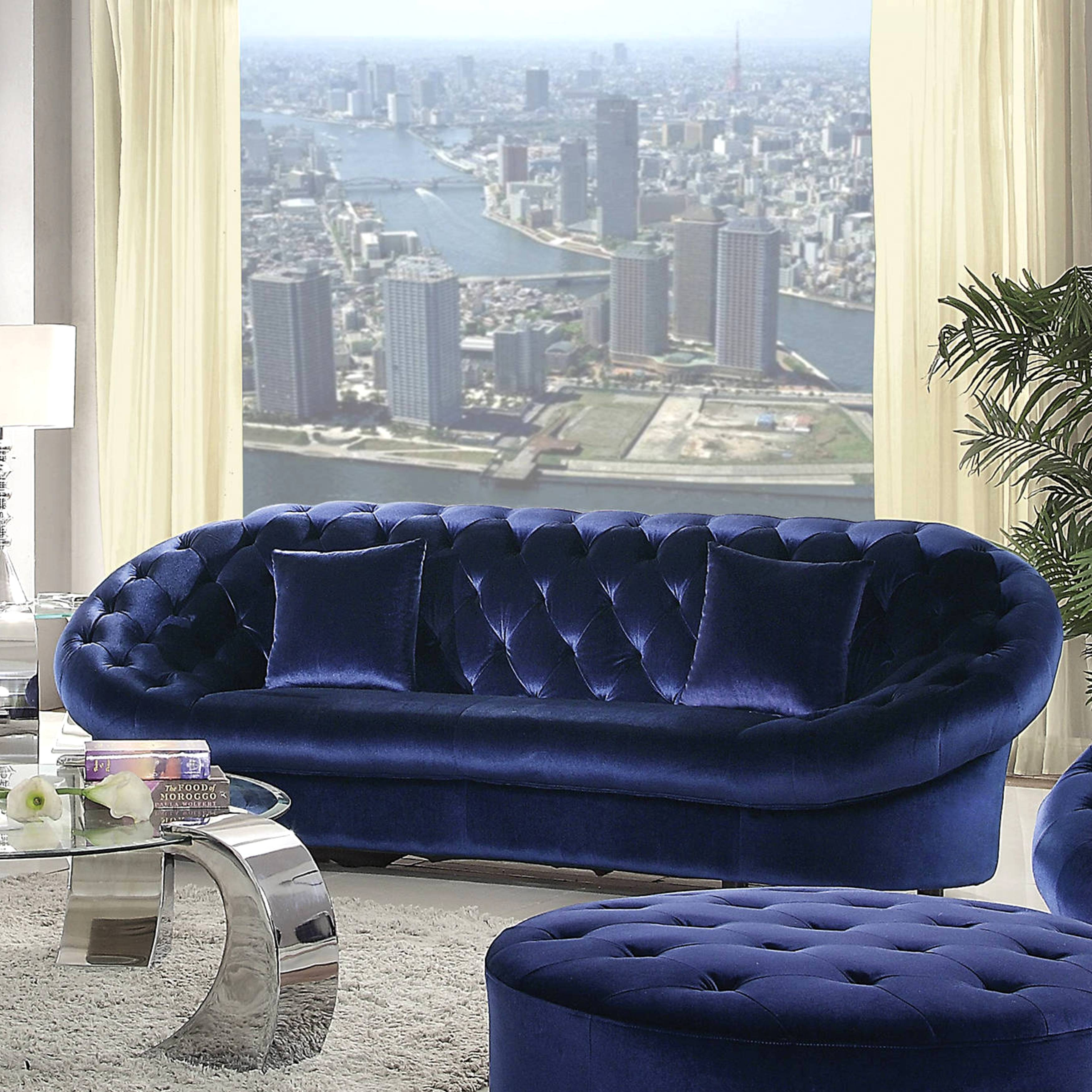 Royal Blue Velvet Sofa American Style Royal Blue Velvet
