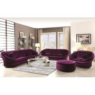 Xnron Cradle Design Purple Velvet Tufted Living Room Collection https://ak1.ostkcdn.com/images/products/11746275/P18662725.jpg?impolicy=medium