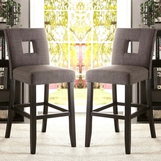 Inspire Q Mendoza Keyhole Counter Height Stool Set Of 2