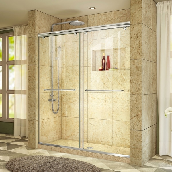 "DreamLine Charisma 44-48 in. W x 76 in. H Frameless Bypass Sliding Shower Door - 44"" - 48"" W"