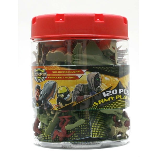 Lanard The Corps Elite Army Figure Playset 120 Pieces