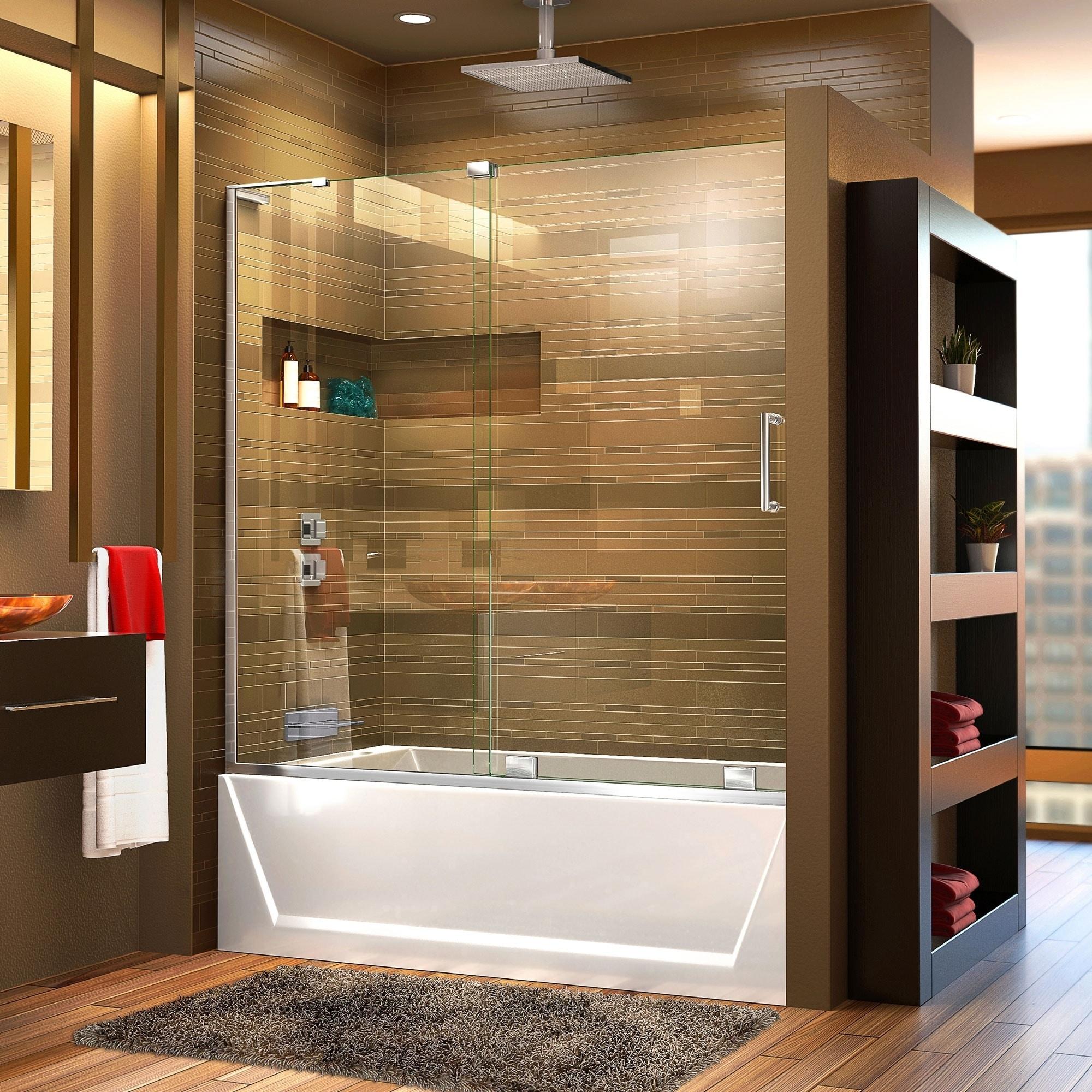 Buy Bathroom Shower Enclosures Series 8 Frameless Sliding Shower ...