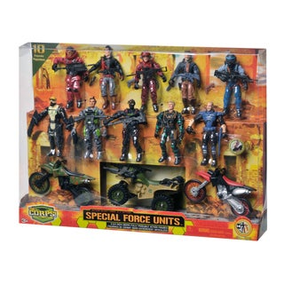 The Corps Special Forces 10 Figures and Vehicle Deluxe Set