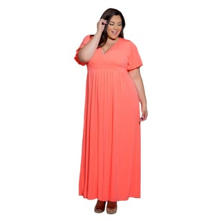Sealed with a Kiss Women's Plus Size Classic Maxi Dress