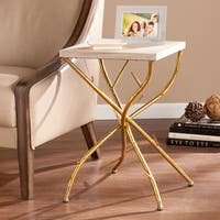 Silver Orchid Grant Branch Accent Table