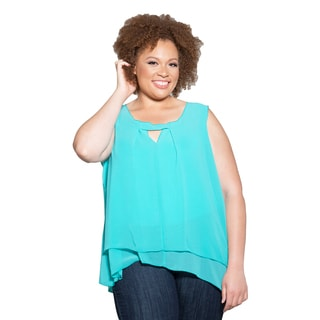 Sealed with a Kiss Women's Plus Size Summer Chiffon Tank