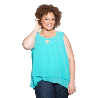 Sealed with a Kiss Women's Plus Size Summer Chiffon Tank (3 options available)
