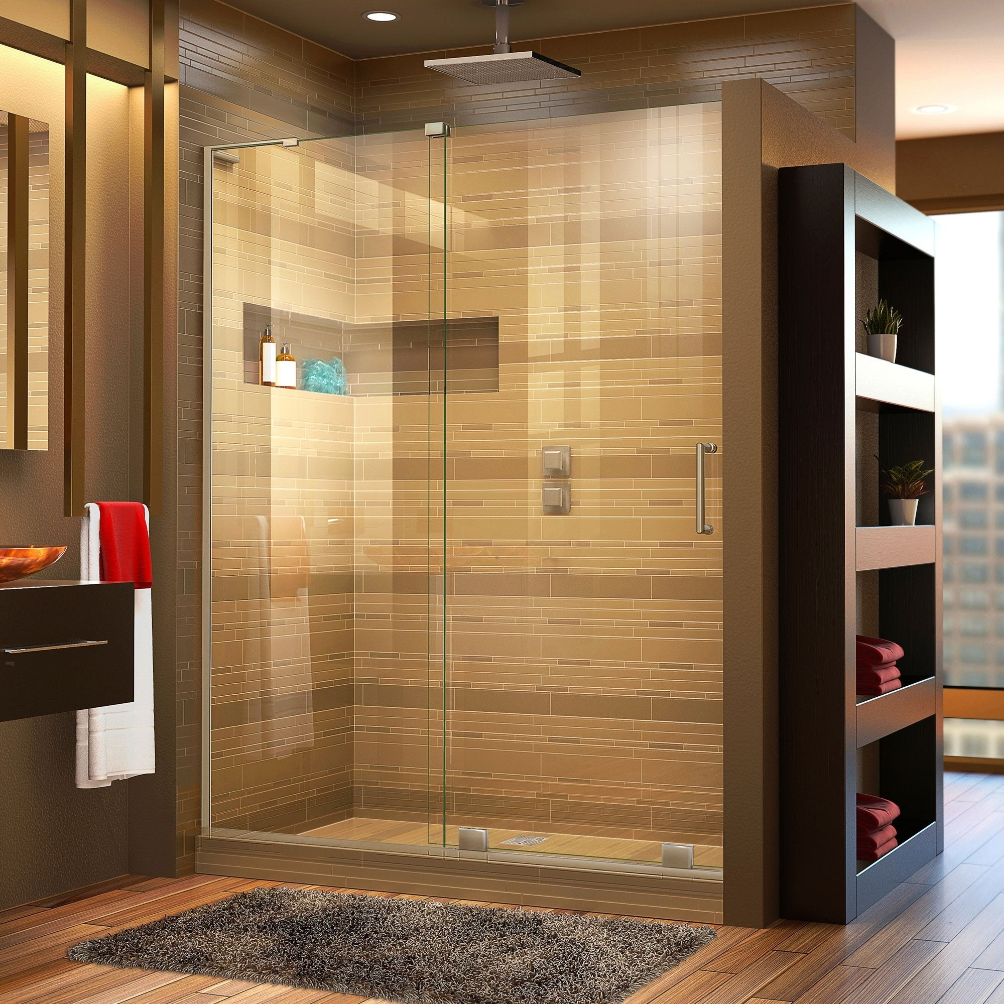 Dreamline Mirage X 56 60 In W X 72 In H Frameless Sliding Shower Door