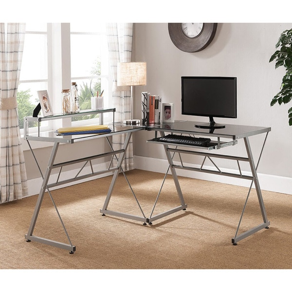 shaped Office Desk - Free Shipping Today - Overstock.com