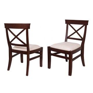 BirdRock Home Upholstered Cross Back Side Chair