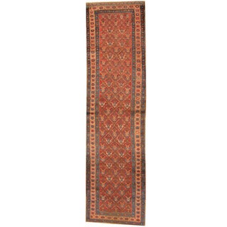 Herat Oriental Persian Hand-knotted 1920s Antique Heriz Wool Runner (3'1 x 11'7)