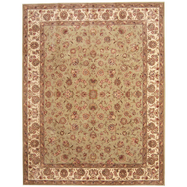 Indo Persian Tabriz Wool Area Rug: Shop Herat Oriental Indo Hand-tufted Tabriz Wool And Silk