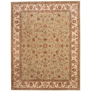 Herat Oriental Indo Hand-tufted Tabriz Wool and Silk Rug (7'5 x 9'6)