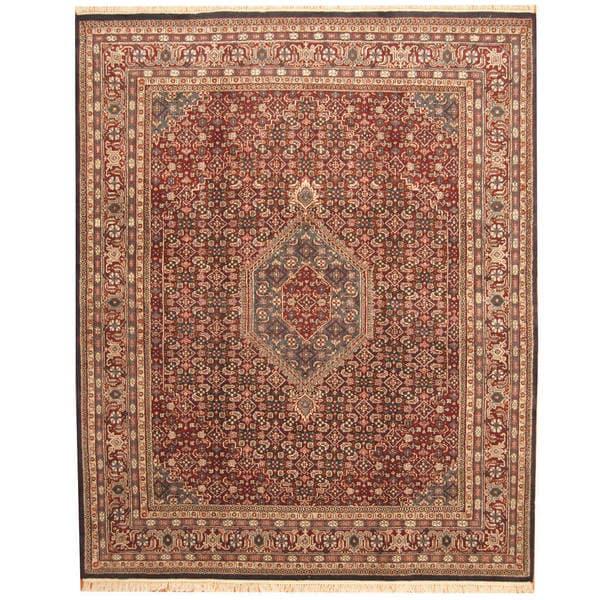 Handmade Herat Oriental Indo Bidjar Wool Rug (India) - 8'1 x 9'10