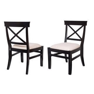 BirdRock Home Upholstered Cross Back Dining Chair (Set of 2)