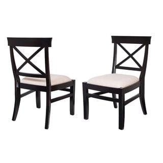 BirdRock Home Upholstered Cross Back Side Chair (Set of 2)