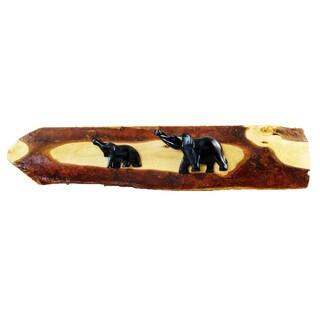 Plaque Elephant Stone on Bark